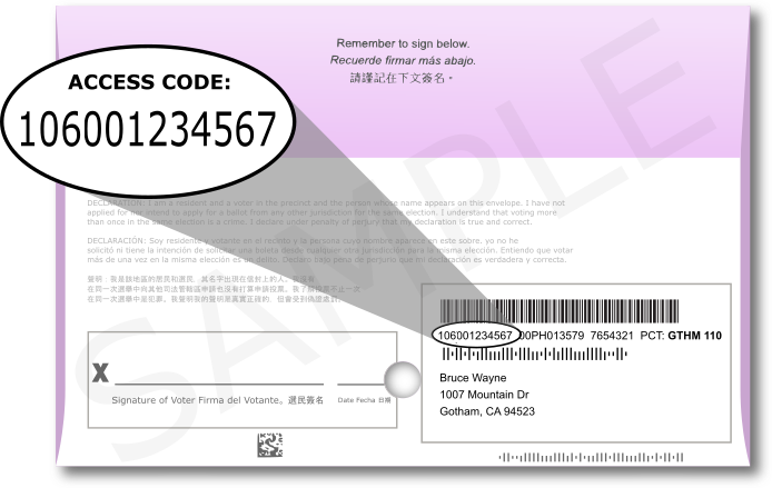 Accessible Vote by Mail Ballot Envelope